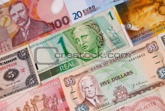 Assorted currencies