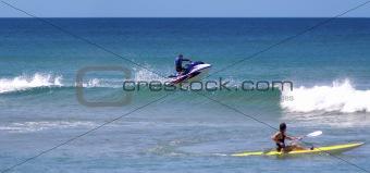 Jetski stunt jump air