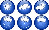 Blue weather icons