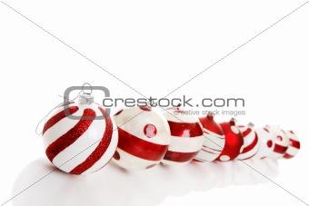 Nine Christmas Baubles