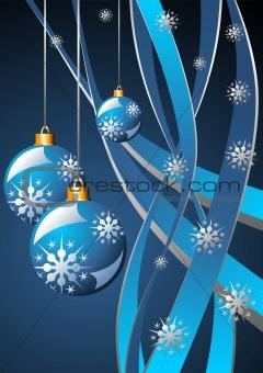 Christmas blue template