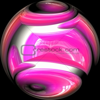 Artistic glass orb