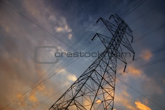 Powerlines at sunset3