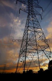 Powerlines at sunset4
