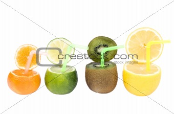 Abstract fruits drink