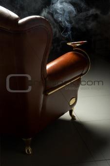 cigar and armchair