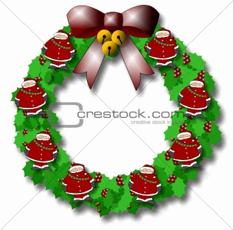 Santa Wreath