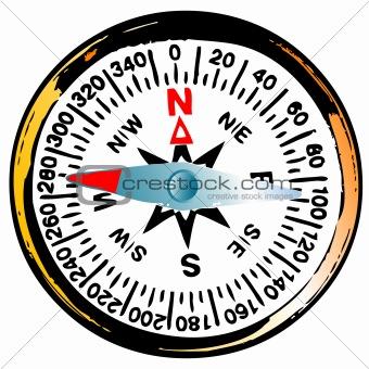 Old grunge compass
