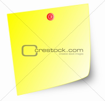 Post-it note & thumbtack