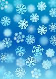 Snowfall background (vector)