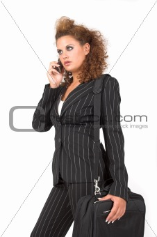Business woman, speaking on her cell phone