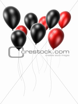 black and red balloons
