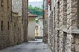 Alleyway. Bobbio. Emilia-Romagna. Italy.