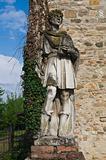 Marble statue. Grazzano Visconti. Emilia-Romagna. Italy.