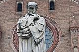 Gian Domenico Romagnosi statue. Piacenza. Emilia-Romagna. Italy.