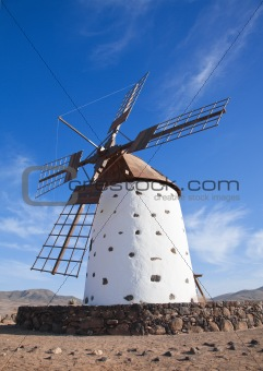 Fuerteventura, Canary Islands, traditional windmill