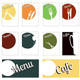 Fun cafe menu set concept