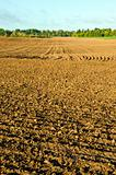 Plow agricultural fields autumn background ground