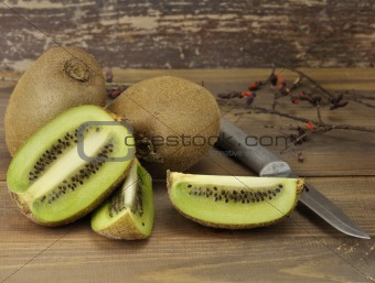 Kiwi Fruits Close Up