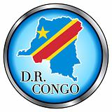 DR Congo Rep Round Button