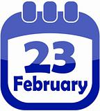 Icon February 23 calendar