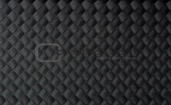 Black rubber mat