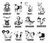 Animals from Chinese horoscope