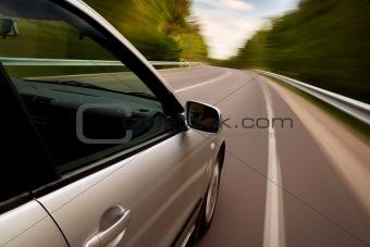 Car driving fast