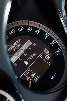 Fast car speedometer