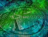 Binary COde and US Currency Abstract