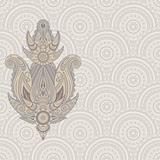 vector paisley design element on seamless eastern pattern