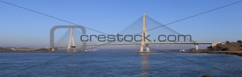Bridge over the Guadiana River in Ayamonte