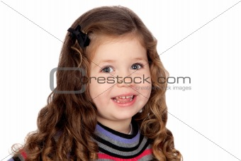 Smiling baby girl isolated