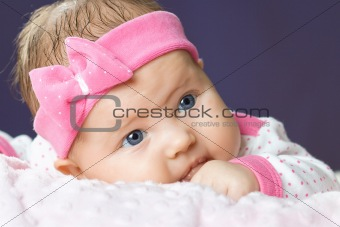 Portrait of very sweet little baby