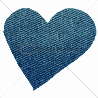 Heart from jeans