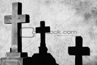 Cross and two shadows