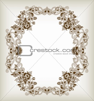 Abstract Floral Frame 5
