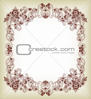 Abstract Floral Frame 1