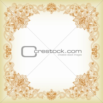 Abstract Floral Frame 2