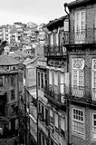 Portugal. Porto city in black and white