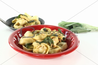 Tortellini with sage