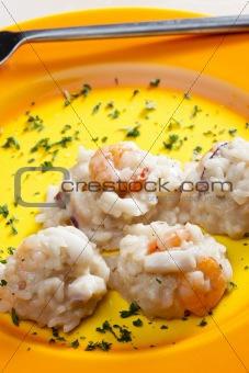 Italian risotto with seafood