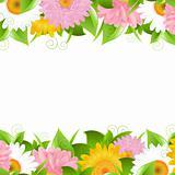 Flower And Leaves Border