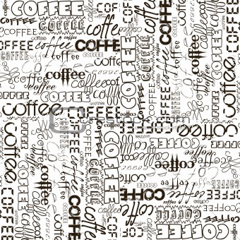 Background with coffee advertising