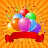Birthday balloons design