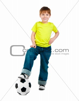 Little boy  with the ball