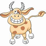 Vector funny cow