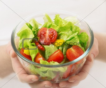 cup of vegetable vegetarian salad