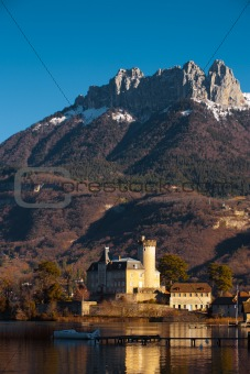 Alps Castle Mountain Background