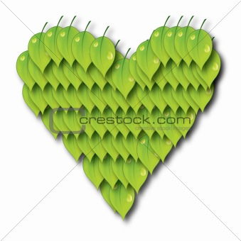 ecology concept with heart